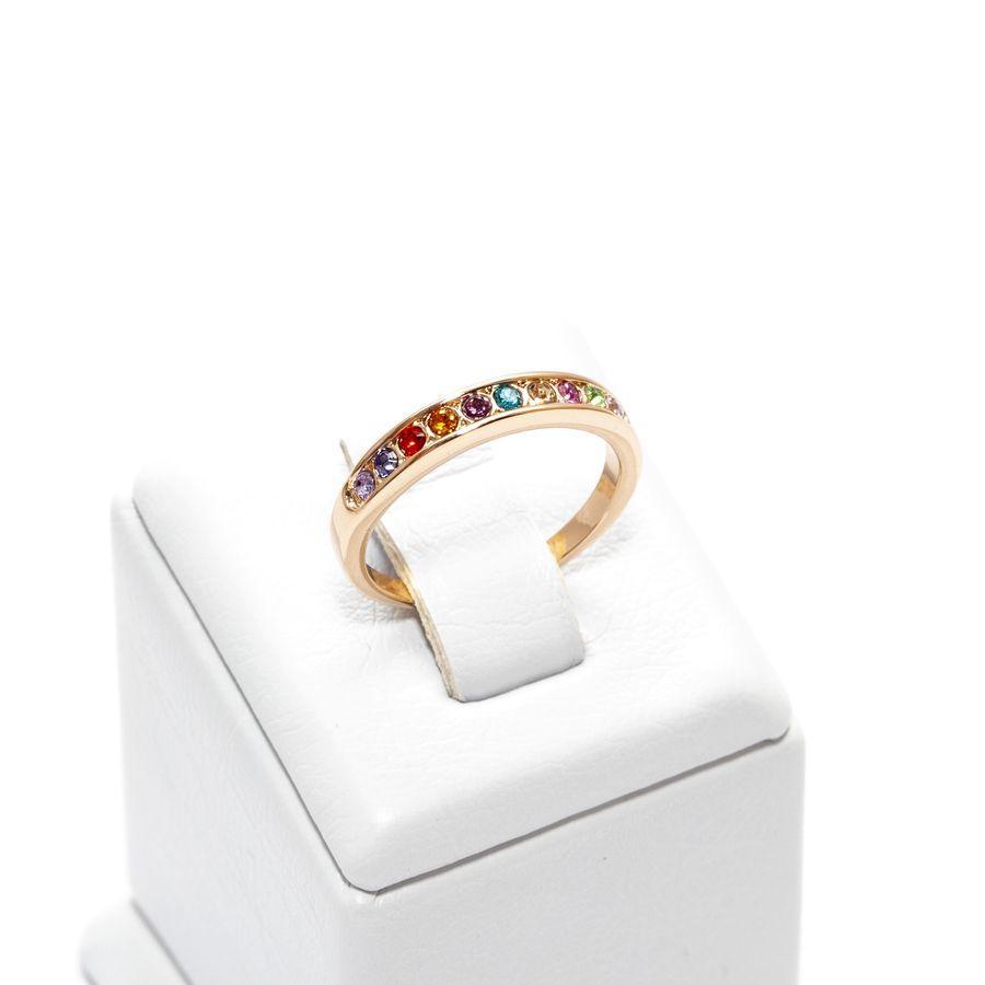 Кольцо дорожка с разноцветными камнями  032 KH01  AH, R