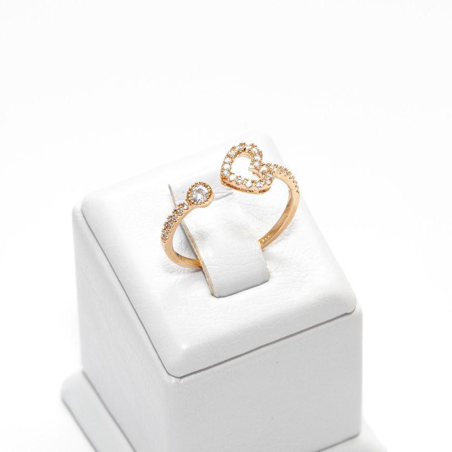 Кольцо с сердечком и незамкнутой шинкой 2015-013 AA, R