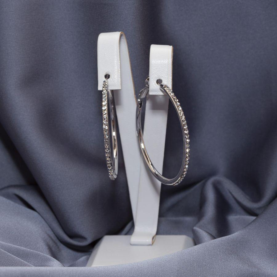 Серьги кольца с камнями 250 KH03  XA