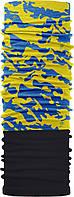 Зимовий бафф Бандана-трансформер Чорний з синьо-жовтим (ZBT-040/1)