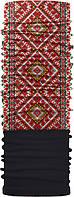 Зимовий бафф Бандана-трансформер Вишиванка Чорно-червона  (ZBT-015-2)