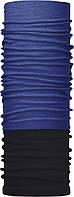 Зимовий бафф Бандана-трансформер Блакитний №1 Чорно-синій (ZBT-059)