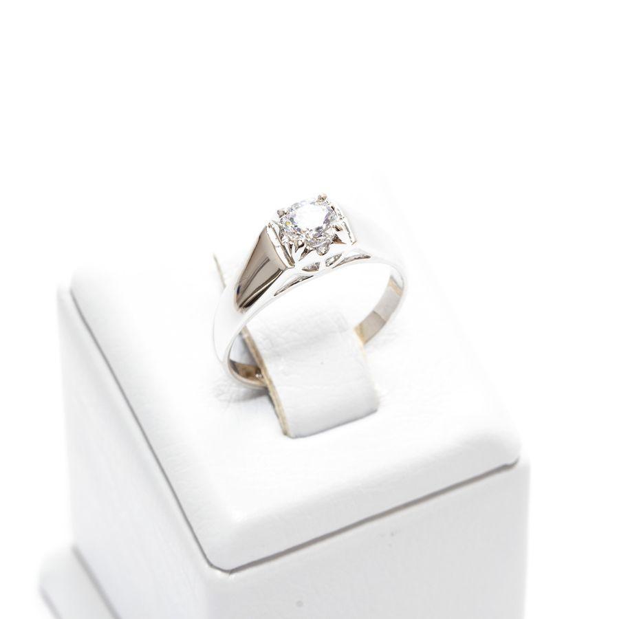 Кольцо серебряное с фианитом 846 КН01 АВ