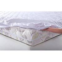 Наматрасник натяжной, бязь белая, Размер матраса (ШхД) 80x200