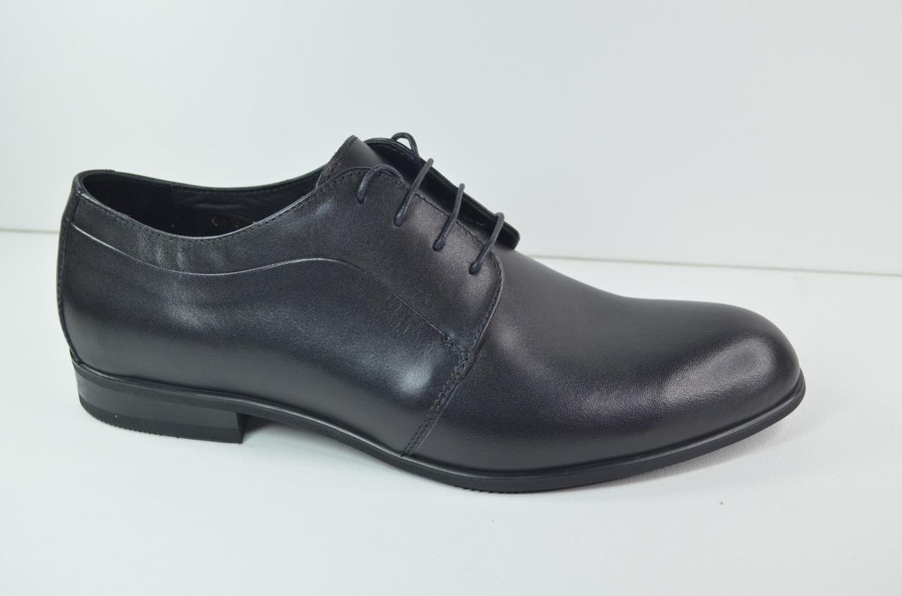 Мужские классические кожаные туфли черные IKOC 060 - 1