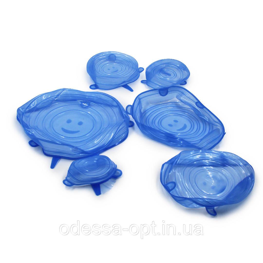 Универсальные селиконовые крышки разных размеров (6 шт. в упаковке)