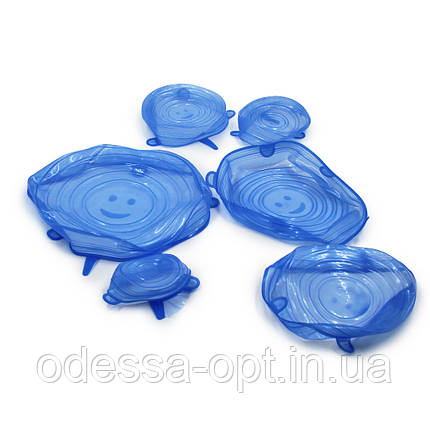 Универсальные селиконовые крышки разных размеров (6 шт. в упаковке), фото 2