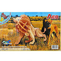 Сборная модель Мир деревянных игрушек Лев (Е013)