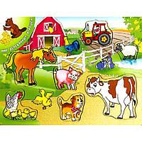 Развивающая игрушка Мир деревянных игрушек Ферма 2 (Р 16)