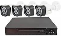 Комплект видеонаблюдения Ukc D001-4CH Full HD 1080P 3.6 мм 1 mp (4 камеры) (3263)