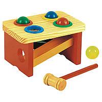 Развивающая игрушка Мир деревянных игрушек Стучалка-горка-шарики (Д142)