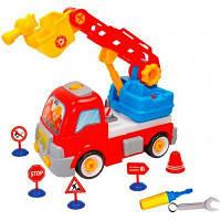 Конструктор BeBeLino Пожарная машина с дорожными знаками (58013)