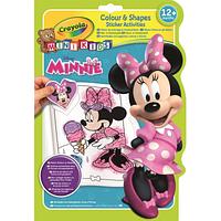 Набор для творчества Crayola Книга-раскраска c наклейками для малышей Минни (81-1372)