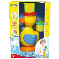 Игрушка для ванной BeBeLino Уточка Водяное колесо желтая шляпа (57033-3)