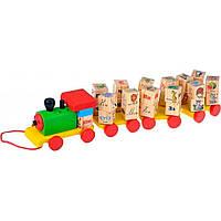 Развивающая игрушка Мир деревянных игрушек Паровозик алфавит (Д222)