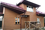 "Металлический Блок -Хаус ""Бревно тип 2"" Золотой дуб Зд(Корея), фото 2"