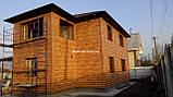 "Металлический Блок -Хаус ""Бревно тип 2"" Золотой дуб Зд(Корея), фото 9"