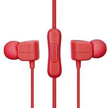 Наушники с микрофоном Remax RM 502 Красный