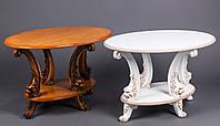 Резной журнальный столик из натурального дерева, классический журнальный стол из дерева №12