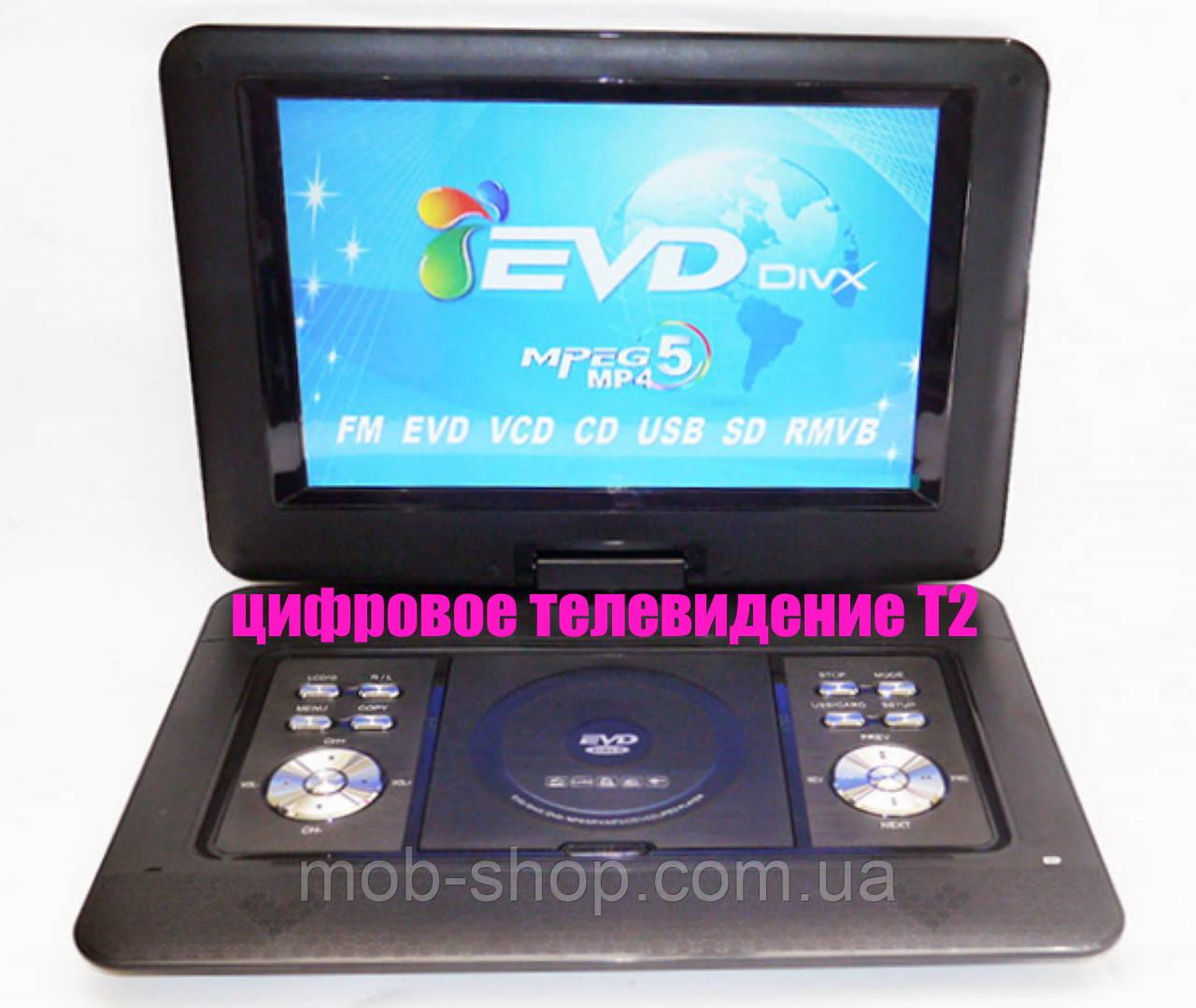 """Переносной портативный ДВД DVD проигрыватель Opera NS-1580 14"""" встроенный Т2 для дачи или машины"""