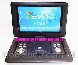 """Переносний портативний ДВД DVD програвач Opera NS-1580 14"""" вбудований Т2 для дачі або машини"""