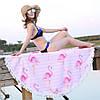 Пляжный коврик розовый Полосатый Фламинго. 150см., фото 5
