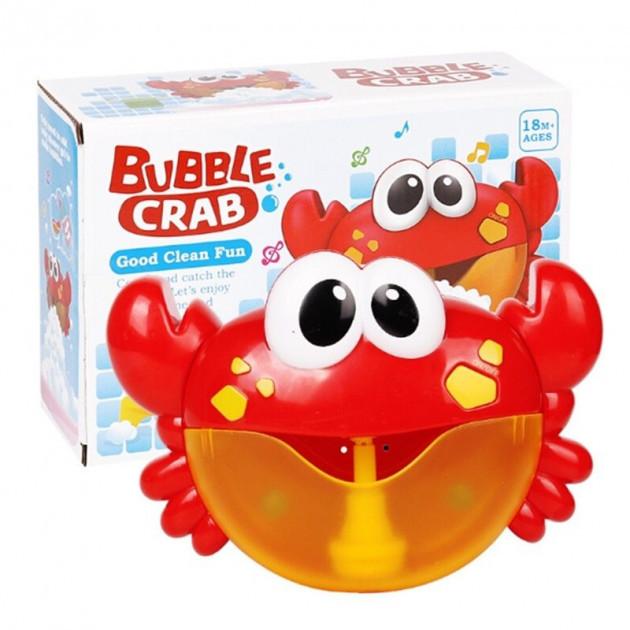 Игрушка для купания пускающая пузыри Metoo Bubble Crab 16см Красный