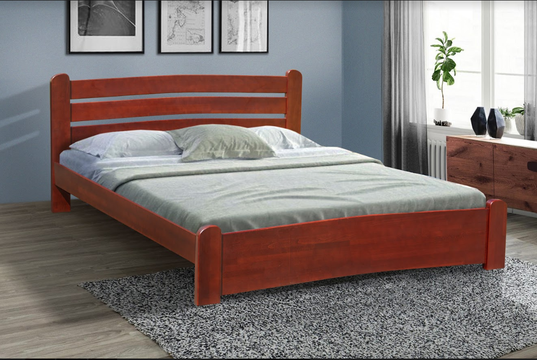 Кровать из  бука -Сабрина 1,6*2 (каштан)