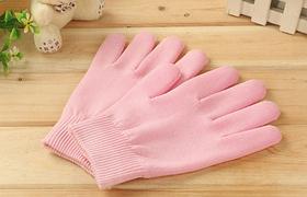 Увлажняющие гелевые перчатки для spa (розовые) универсальный размер