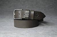 Шкіряний ремінь, сірий, фото 1
