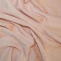 Мех плюш бежево-розовый