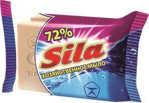 Хозяйственное мыло Sila 72% коричневое 140г