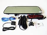 "DVR V17 Зеркало регистратор, 7"" сенсор, 2 камеры, GPS навигатор, WiFi, 8Gb, Android, 3G, фото 3"