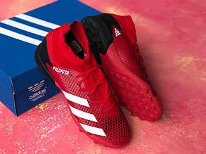 Сороконожки для футбола Adidas Predator 20.3 с носком красные