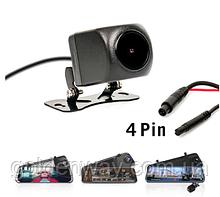 Камера заднего вида с кабелем для зеркала 10 дюймов (Junsun и др) Штекер 2,5мм, 4 контакта 4 pin CPA