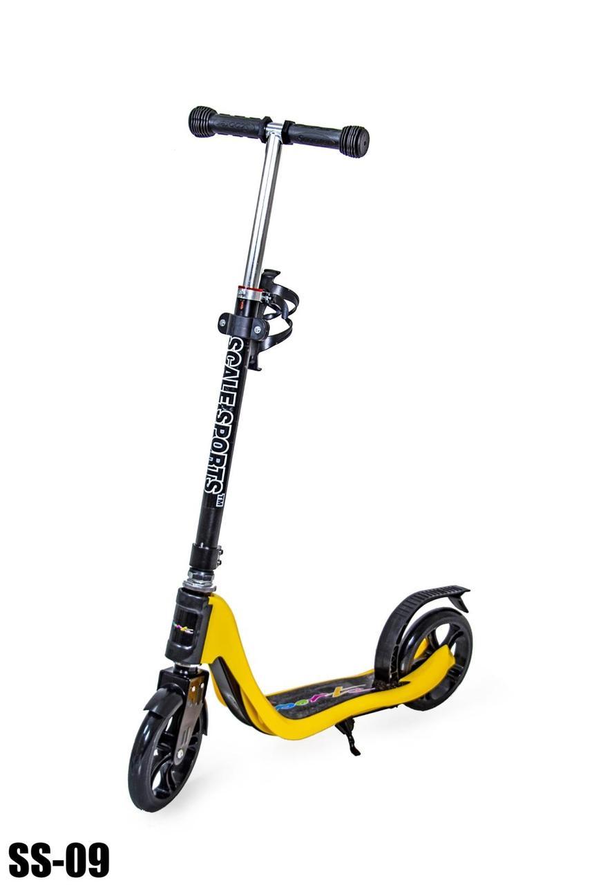 Самокат для детей и подростков Scooter Kids (от 5 лет, до 80 кг), желтый