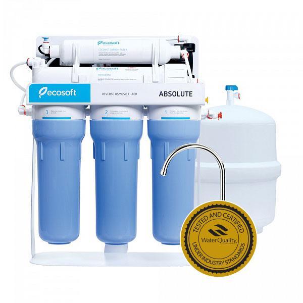 Бытовые фильтры обратного осмоса Ecosoft Absolute 5-50P з помпою на станині