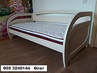 Кровать полуторная Комфорт подростковая из натурального дерева, Бавария. Киев