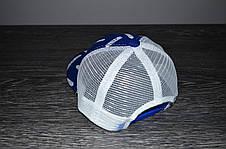 Кепка (бейсболка) летняя + OFF WHITE синяя-белая, фото 3