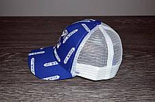 Кепка (бейсболка) летняя + OFF WHITE синяя-белая, фото 2