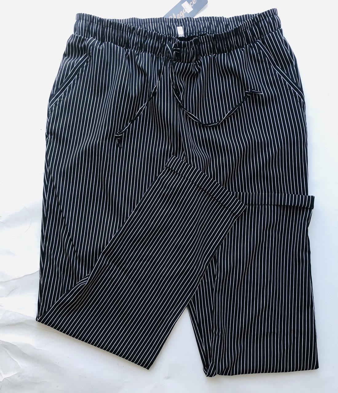 БАТАЛЬНЫЕ летние штаны N° 24 (черный)