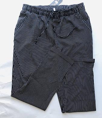 БАТАЛЬНЫЕ летние штаны N° 24 (черный), фото 2