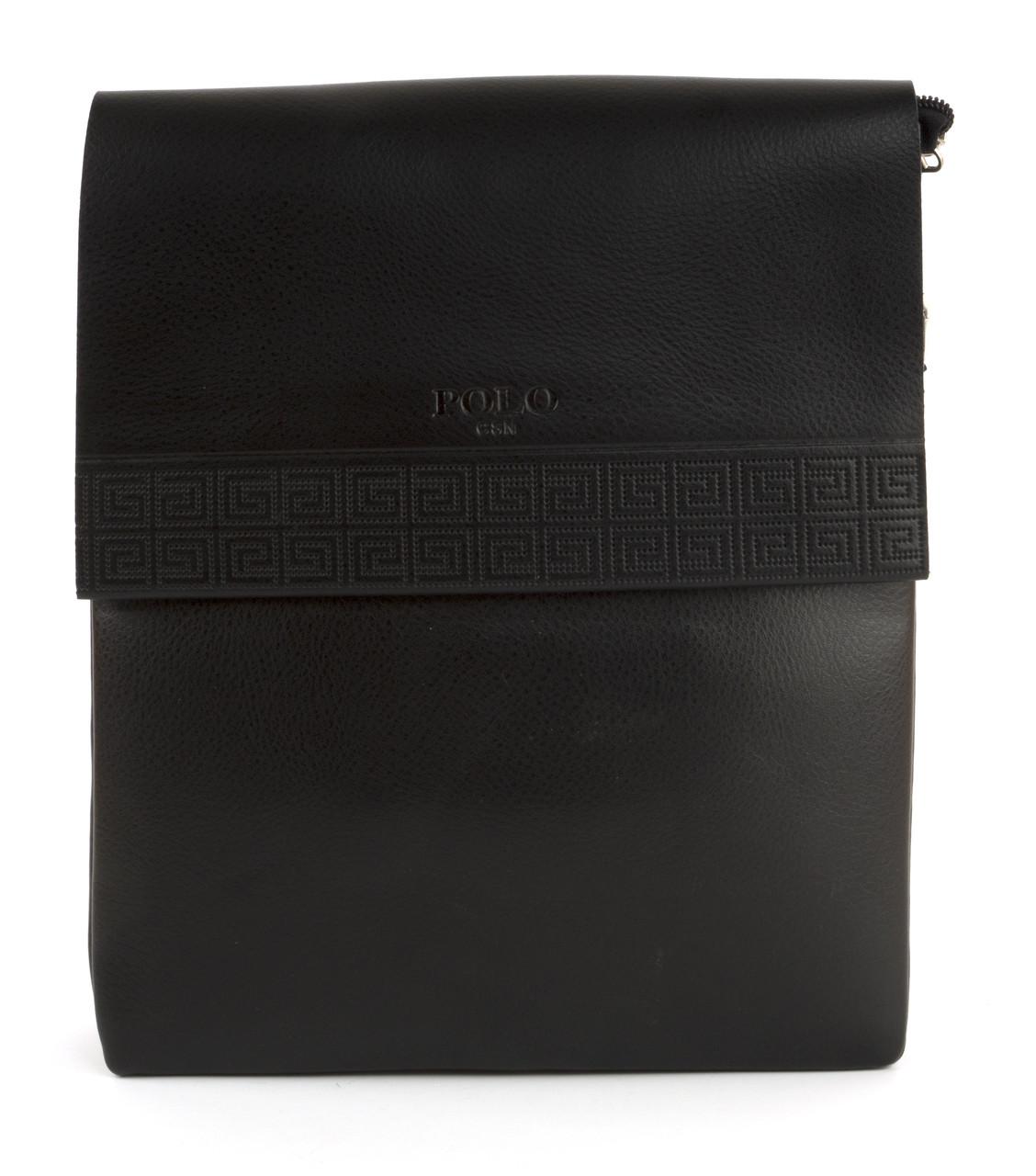 Качественная мужская вместительная сумка с прочной PU кожи POLO art. 352-3