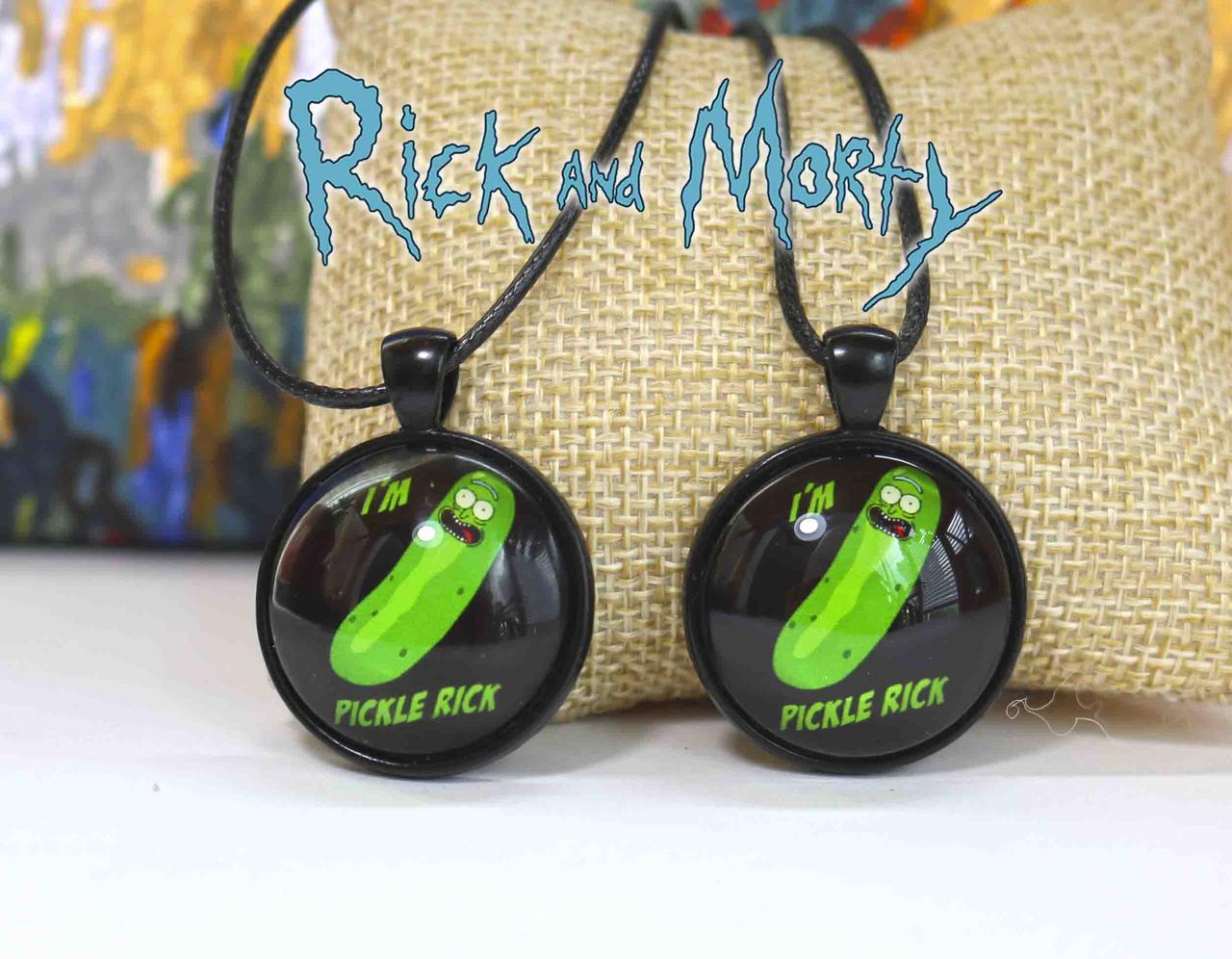 Кулон Огурчик Рик Rick and Morty Рик и Морти   i am pickle rick