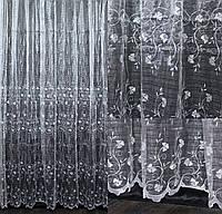 """Нарядная тюль, гардина из ткани  """"Кристалон"""". Высота 2,7м, Код 558т, фото 1"""
