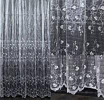 """Нарядная тюль, гардина из ткани  """"Кристалон"""". Высота 2,7м, Код 558т"""