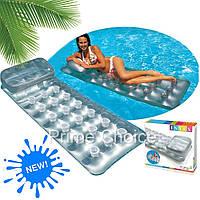 Матрас надувной Intex Стаканчики для пляжа, отдыха на море, в бассейне, Пляжные надувные матрасы
