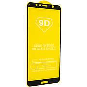 Защитное стекло Full Cover 9D на Huawei Y6 / Y6 Prime 2018  Black