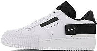 Женские кроссовки Nike Air Force 1 Type N.354 White Black AT7859-101 Найк Аир Форс белые (Форсы) AF1-TYPE