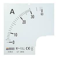 Шкала амперметра АСКО-УКРЕМ 30/5А для А-96-6